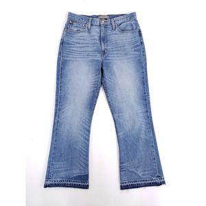 "POINT SUR 11"" Kick out Crop High Rise Flare Jeans"